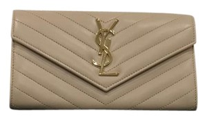 Saint Laurent New! monogram matelasse wallet