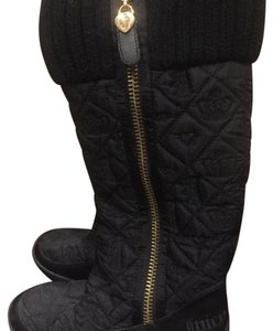 Juicy Couture Black with gold hardware Boots