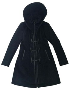 Mackage Duffle Wool Toggle Leather Pea Coat