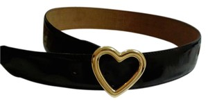 Moschino Moschino high sheen black belt with dust bag