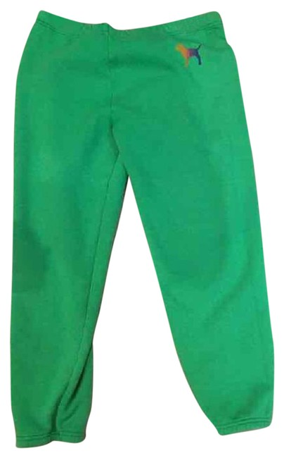 Item - Green Pink Cropped Sweats Activewear Bottoms Size 8 (M)