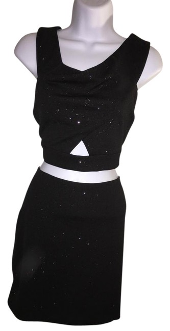 As U Wish Black 2 Pieces / Short Night Out Dress Size 12 (L) As U Wish Black 2 Pieces / Short Night Out Dress Size 12 (L) Image 1