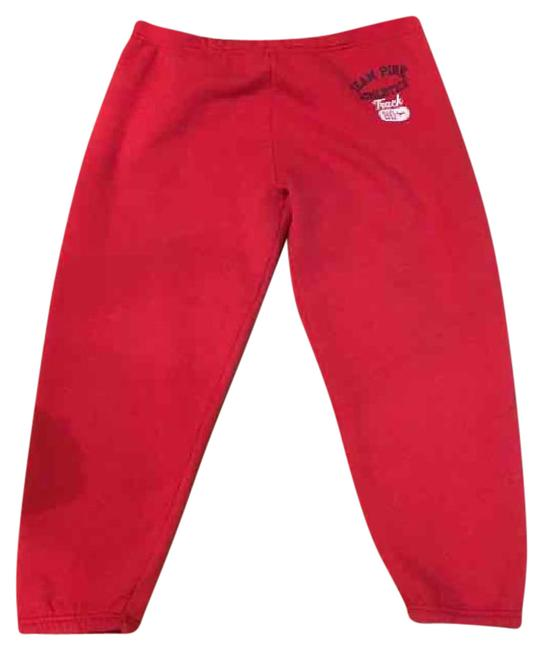 Victoria's Secret Red Pink Cropped Sweats Activewear Bottoms Size 8 (M) Victoria's Secret Red Pink Cropped Sweats Activewear Bottoms Size 8 (M) Image 1