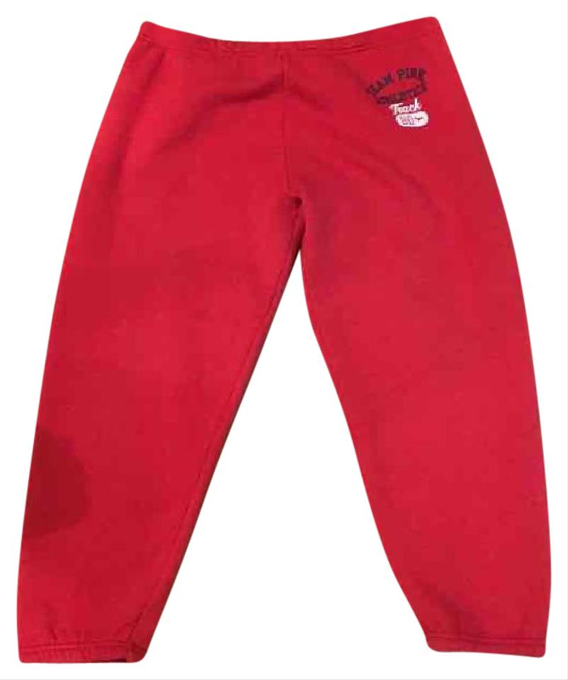 1139b87b0bb Victoria s Secret Red Pink Cropped Sweats Activewear Bottoms. Size  8 ...