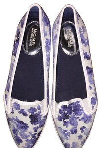 Michael Kors WHITE/BLUE Flats
