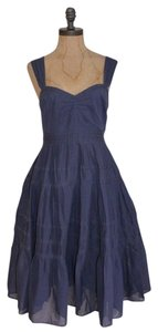 Anthropologie short dress FADE PURPLE Maeve Fade Things & Joy Spring Summer Tiered on Tradesy