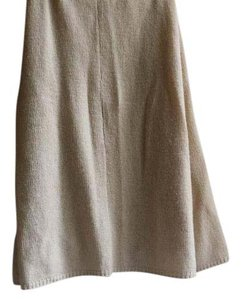Prada Silk A-line Casual Evening Skirt Off Soft White
