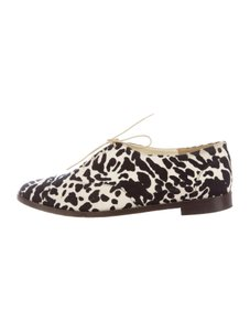 Tibi Oxfords Dalmation Animal Print Flats