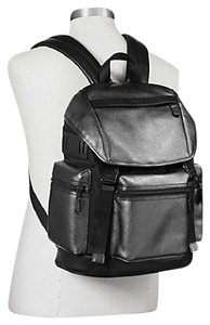 Coach Metallic Leather Nylon Men's Backpack