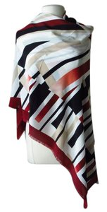 White House | Black Market New with tags silk geometric print scarf