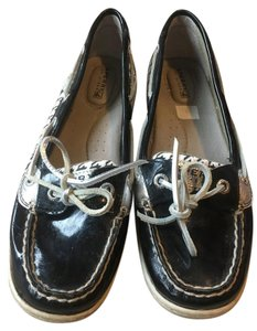 Sperry Houndstooth black/silver Flats