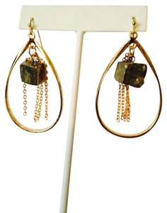 Panacea Cache Panacea NWOT Pyrite Teardrop Earrings