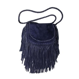 jennifer haley Suede Designer Brand New Fringe Cross Body Bag