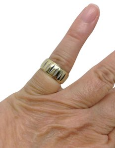 Other Vintage, 14k yellow gold, unisex, wide band wedding ring