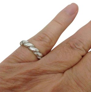 Tiffany & Co. size 6.75, Tiffany & Co. sterling silver, unisex, ribbed stacking ring