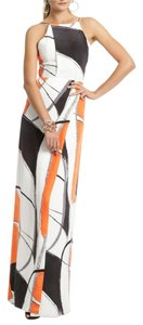 Maxi Dress by Yigal Azrouël Maxi Orange Black Date Night