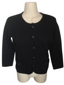J.Crew Wool Knit Leather Buttons Cardigan
