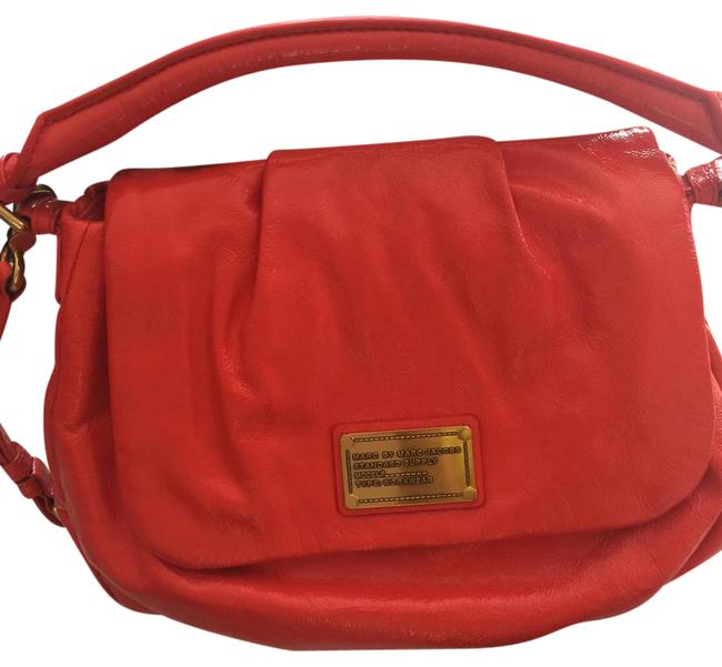 Marc by Marc Jacobs Classic Q Lil Ukita Bright Orange Leather Shoulder Bag Marc by Marc Jacobs Classic Q Lil Ukita Bright Orange Leather Shoulder Bag Image 1