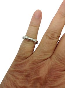 Tiffany & Co. sterling silver, designer bamboo ring