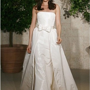 Oscar De La Renta Oscar De La Renta Wedding Gown With Detachable Skirt And Belt Wedding Dress