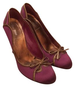 Miu Miu purple & gold Pumps