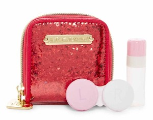 Betsey Johnson NWT Red Glitter Contact Case, MIRROR BJ55325P VALENTINE'S GIFT
