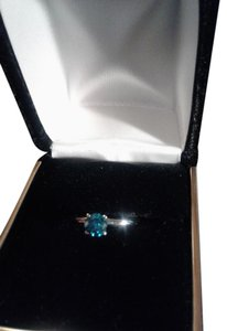 Zales Blue Diamond Engagement Ring
