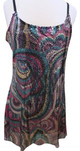 Free People Rainbow Sequin Party Scoop Print Dress