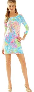 Lilly Pulitzer short dress BRIGHT MULTI Sophie Pool House Coral on Tradesy