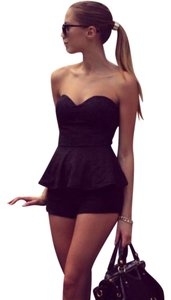 BCBGMAXAZRIA Top Black Strapless