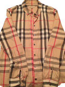 Burberry Button Down Shirt Traditional print