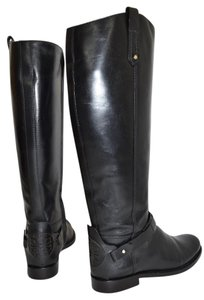 Tory Burch Riding BLACK LEATHER Boots