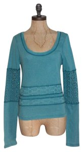 Free People We The Eyeley Girlie Greaser Top BLUE