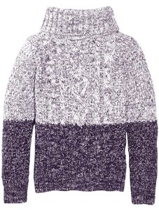 Vince Turtleneck Orchid Chunky Knit Marled Sweater