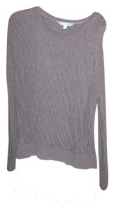 Simply Vera Vera Wang Shirt Top Dark grey and cream