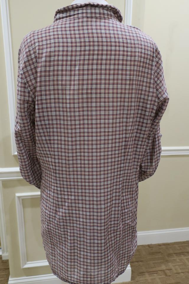 c860dca1906 Joie Brown Plaid Button Down Tunic Blouse Size 12 (L) - Tradesy