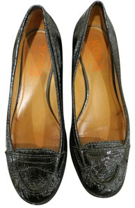 MICHAEL Michael Kors Chunky Loafer Patent Preppy Leather Black Flats