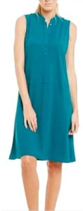 Eileen Fisher short dress Jewel green on Tradesy