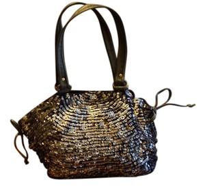 Anthropologie Jasper & Jeera Purse Shoulder Sequin Tote in Silver