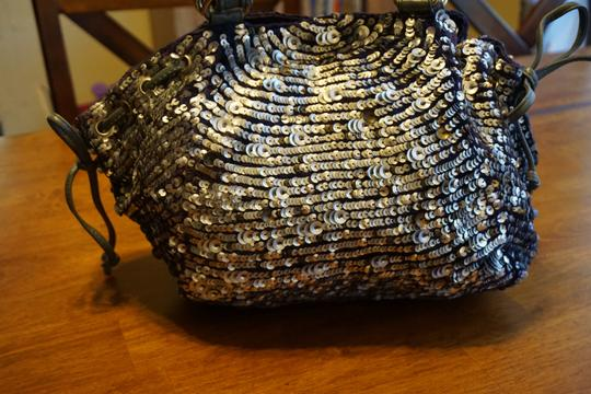 Anthropologie Jasper & Jeera Purse Shoulder Sequin Tote in Silver Image 1
