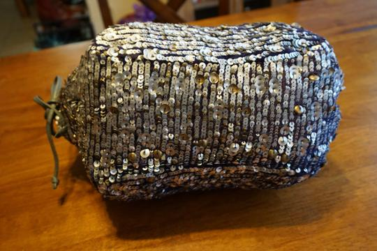 Anthropologie Jasper & Jeera Purse Shoulder Sequin Tote in Silver Image 2