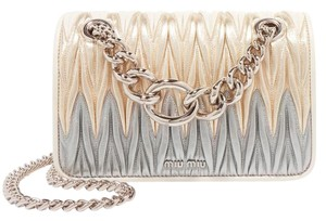 Miu Miu Quilted Matelasse Club Crossbody Shoulder Bag