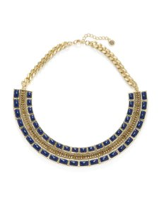 House of Harlow 1960 House of Harlow 1960 Lapis Dynasty Bib Necklace Gold