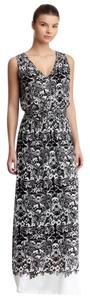 BLACK WHITE PRINT Maxi Dress by Max Studio
