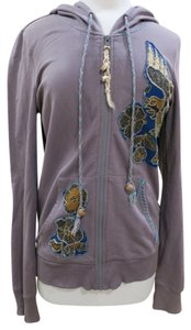 Free People Beaded Embroidered Embellished Bohemian Sweatshirt