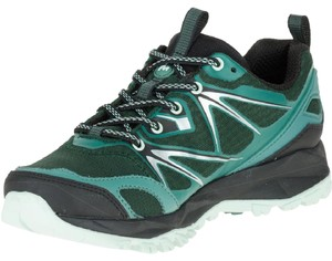 Merrell Hiking Waterproof Breathable Comfortable Pine Grove - Black & Green Athletic