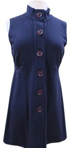 Theory short dress Blue Button Mini Tunic Office Pleated on Tradesy