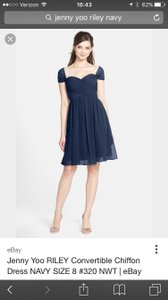 Jenny Yoo Navy Blue Riley Dress