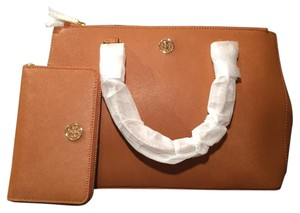 Tory Burch Robinson Mini Double Zip & Wallet Set Tote in Luggage