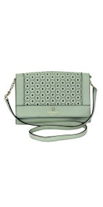 Kate Spade Mint Laser Cut Leather Cross Body Bag